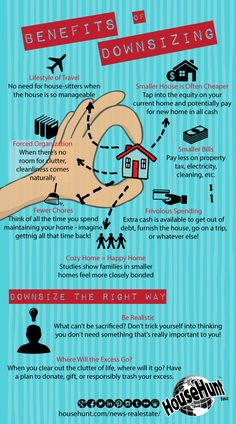 Benefits of Downsizing [Infographic].  www.BarbHutchinsonHomes.com