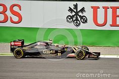Lotus F1 Team E23 Driven By Pastor Maldonado At Monza - Download From Over 35 Million High Quality Stock Photos, Images, Vectors. Sign up for FREE today. Image: 58938470