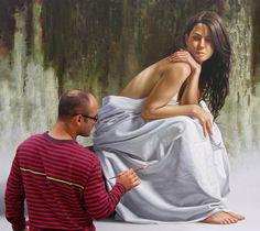 Pintura a óleo hiperrealista de Omar Ortiz.