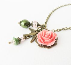 Handmade nature inspired necklace #jewelry #necklace #nature #flowers Nature Inspired, Flower Necklace, Unique Gifts, Pendant Necklace, Flowers, Handmade, Inspiration, Etsy, Jewelry