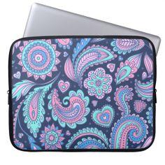 Vintage floral paisley pattern #floral #paisley #laptop #sleeve
