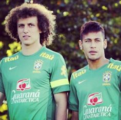 David Luiz and Neymar  Brazil National Football Team