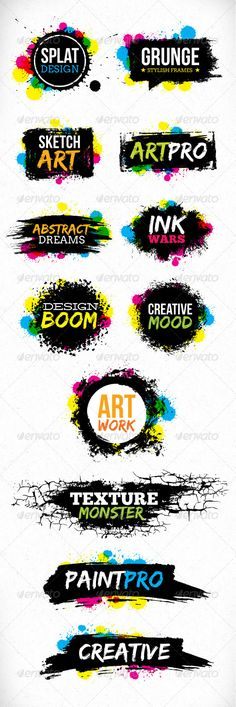 Grunge Blot Brush Vector Design Elements  PSD Template • Download ➝ https://graphicriver.net/item/grunge-blot-brush-vector-design-elements/5107960?ref=pxcr