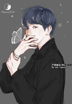 Baekhyun Fanart, Chanbaek Fanart, Kpop Fanart, Daily Exo, Exo Anime, Exo Fan Art, K Idol, Look Alike, Anime Characters