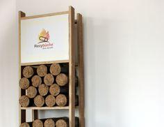 Bois de chauffage stockage bûche compressée