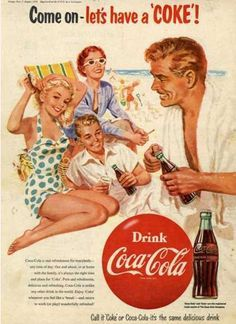 Vintage Advertising on Pinterest | Vintage Ads, Coca Cola and 1950s
