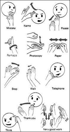 Sign Language Words - some are different than what I learned (maybe one-handed signs?)