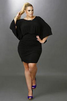 Trendy Plus Size Black Dresses