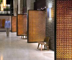 A more modern take on the recycled glass wall, these Beer Bottle Walls, photo by girlvsbeer.wordpress.com