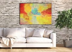 Tropical flair for your living space! Modern large print by FraBor Art.