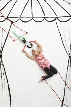 Trapeze Doll - cute kids photo idea
