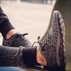 Cheetah Nike running shoes so cute