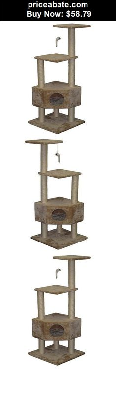Animals-Cats: Cat Tree Tower Condo Furniture House Post Kitten Scratch Toy Pet Scratching Play - BUY IT NOW ONLY $58.79