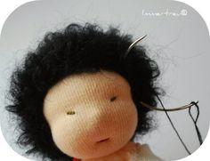 Immertreu®: Gratis Anleitung - einer Stoffpuppe Haare machen
