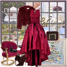 """""""Indulgent Afternoon Tea"""" by wicksteads on Polyvore http://getthelooks.com.au/hi-lo-prom-maxi-skirt-in-burgundy"""