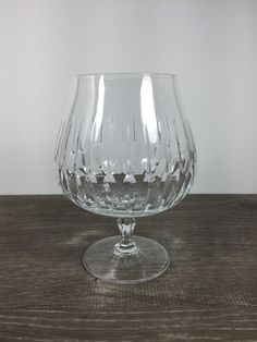 Mikasa Park Avenue Crystal Brandy Glass Snifter by BlueTortoiseVintage on Etsy Mikasa, Brandy Glass, Park Avenue, Wine Glass, Etsy, Crystals, Tableware, How To Make, Beautiful