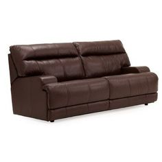 Palliser Furniture Lincoln  Reclining Sofa Upholstery: Bonded Leather - Champion Java, Type: Power