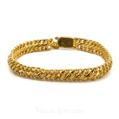 Gold Chain For Men - Yellow Gold Solid Curb Chain Bracelet for Men. Gold weight is grams. Mens Gold Jewelry, I Love Jewelry, Chain Jewelry, Gold Chain Design, Gold Jewellery Design, Gold Chains For Men, Bracelets For Men, Diwali 2018, Concept