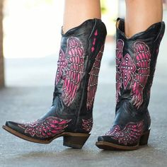 $276- http://www.rivertrailmercantile.com/corral-black-pink-wing-cross-a1049/?gclid=CIX45_-Up8ACFQto7AodvwgAHQ  $279- http://www.ebay.com/itm/Corral-Boots-Womens-Studded-Black-and-Pink-Wing-Cross-A1049-New-/291219141046?pt=US_Women_s_Shoes&var=590372074970&hash=item43ce0371b6  $200- http://www.ebay.com/itm/Corral-Ladies-Black-and-Pink-Wing-Cross-Bling-Cowgirl-Cowboy-Boots-8-5-/201154464696?pt=US_Women_s_Shoes&hash=item2ed5bd8bb8