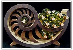 sea shell wine rack, very good flowing wine rack aiming at people with a arts house and are not worried about space