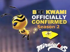 EEEEEKKK!! ITS SO ADORABLE I LOVE IT I LOVE IT. YEJEHE || Miraculous Official Bee Kwami:D