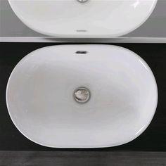 dettagli su lavabo incasso soprapiano in ceramica 60x40 cm design moderno ovale arredo bagno