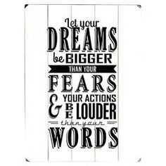 Let Your Dreams Wall Decor