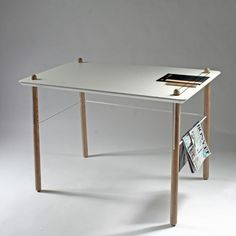 Bump desk by Emilie Stahl Carlsen Sign Lighting, Simple Lines, Ping Pong Table, Drafting Desk, Industrial Design, Tent, Bump, Office Supplies, Cool Stuff