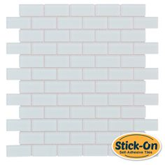 Peel & Stick Subway Glass Mosaic Tile White is a