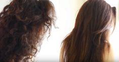 кудрявые и прямые волосы
