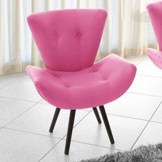 Poltrona Decorativa Thais Suede Rosa American Confort $409