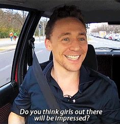 As a youtube commenter once noted: Tom could get on stage and play the armpit tuba and we'd be impressed. Because he's Tom Hiddleston.