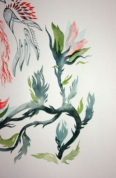Screen printing using water colors + via sanyaglistic.com