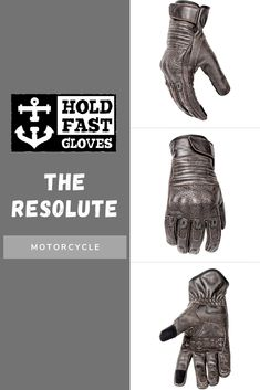 The Resolute Glove from Hold Fast Gloves are the most stylish model in our line. The glove is entirely made of genuine leather. This hard-shell knuckle perforated leather glove mixes form with function. The Resolute glove comes in four different colors.