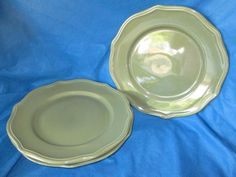 7.91+13.23 OBO 11\  Home Trends HTS29 GREEN Dinner Plate (replacement dish) & Sango CORAL SAND (4974) DINNER PLATE (replacement dish ...