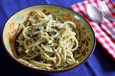 Spaghetti with Silverbeet and Cauliflower Grematola