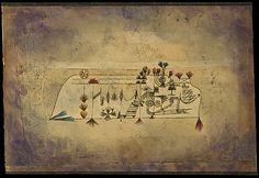 Imagen de Todos los Santos  Paul Klee (alemán (nacido en Suiza), Münchenbuchsee 1879-1940 Muralto-Locarno)  Fecha: 1921 Medio: Acuarela y tinta transferida la impresión en papel, que limita con tinta Dimensiones: H. 12, W. 17-7/8 pulgadas (30,5 x 45,4 cm.) Clasificación: Dibujos Línea de crédito: La Colección Berggruen Klee, 1987