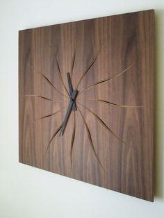 WOODTIME orologio da parete in legno di EbanisteriaGurrado su Etsy