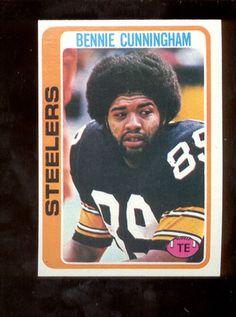 b808087c6 1978 Topps Bennie Cunningham Pittsburgh Steelers Card Mint