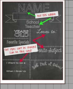chalkboard printables template free silhouette studio cut file
