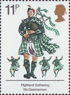 British Cultural Traditions 11p Stamp (1976) Scots Piper