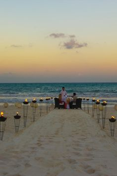 Sunset dinner on the beach at Maroma Resort and Spa