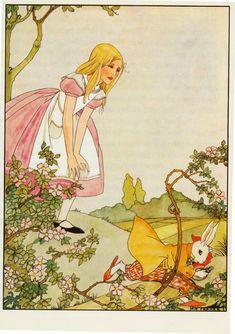 by Rie Cramer--------https://flic.kr/p/oewTq8 | Rie Cramer Alice in Wonderland   ill pg 12 a