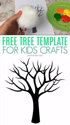 PDF printable that's perfect for kids crafts and activities This free tree template is perfect for making spring or autumn crafts for kids - or a whole four seasons craft! Free printable tree template that's perfect for kids crafts. Kids Crafts, Toddler Arts And Crafts, Halloween Crafts For Toddlers, Spring Crafts For Kids, Autumn Crafts, Family Crafts, Preschool Crafts, Crafts For Kindergarten, Autumn Art Ideas For Kids