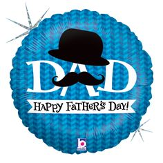 This Dapper Dad foil balloon makes a great choice for events and themes such as Fathers Day, Standard Foils. This balloons ships uninflated and is not packaged for resale. Fathers Day Wallpapers, Mylar Balloons, Masculine Cards, Balloon Decorations, Happy Fathers Day, Dapper, Daddy, Mustache, Holographic