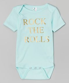 Loving this Mint 'Rock the Rolls' Bodysuit - Infant on #zulily! #zulilyfinds