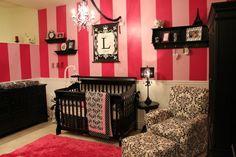pink with damask nursery