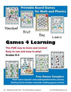 Breaking the barrier use coupon code osm10 to receive 10 off our games 4 learning the old schoolhouse magazine septemberoctober 2014 page 64 www fandeluxe Images