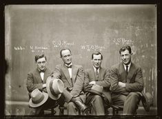 Stylish Vintage Mugshots Of 1920s Criminals Looking Incredibly Dapper - DesignTAXI.com