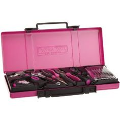 The Original Pink Box Home Repair Set, Pink, Cute Pink, Pretty In Pink, Pink Tool Box, Tools For Women, Hand Tool Sets, Pink Power, Everything Pink, Makeup Storage, Home Repair